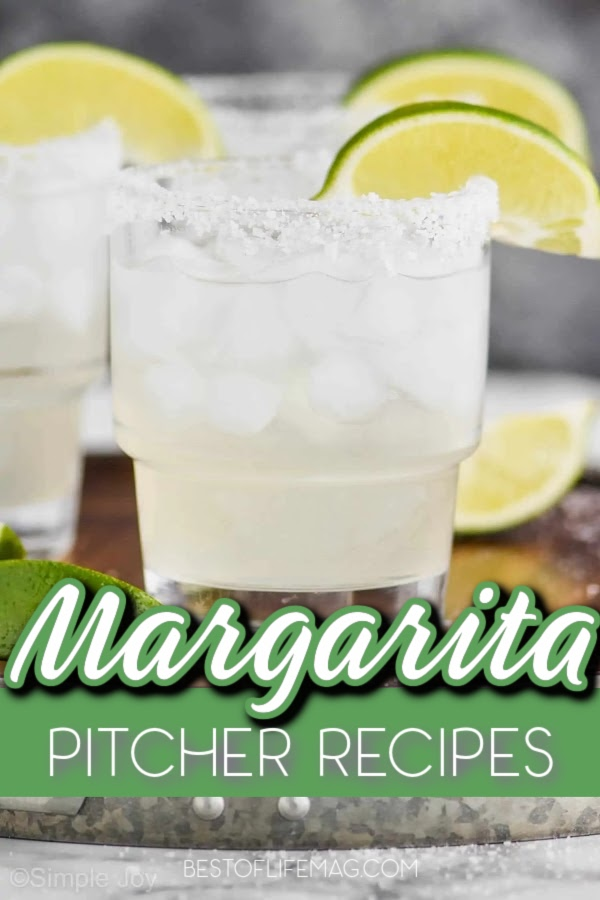 These margarita pitcher recipes are perfect for a crowd and make the BEST party drinks! Margarita Recipes | Party Recipes | Cocktail Recipes for a Party | Margarita Recipes for a Party | Margaritas for a Crowd | Summer Party Recipes | Summer Cocktail Recipes | Fruity Margarita Recipes #margaritas #cocktailrecipes via @amybarseghian