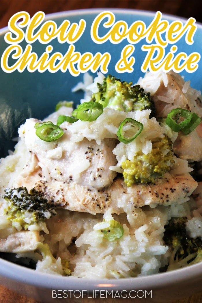 Enjoy this slow cooker chicken broccoli and rice casserole recipe on your dairy free diet. It takes just minutes to prep in your crock pot so it's easy to add to your weekly crockpot chicken meal plan for easy weeknight meals. Casserole Recipes | Crock pot Recipes | Crockpot Chicken Recipes | Crockpot Meal Plan | Dairy Free Recipes with Chicken | Crockpot Casseroles via @amybarseghian