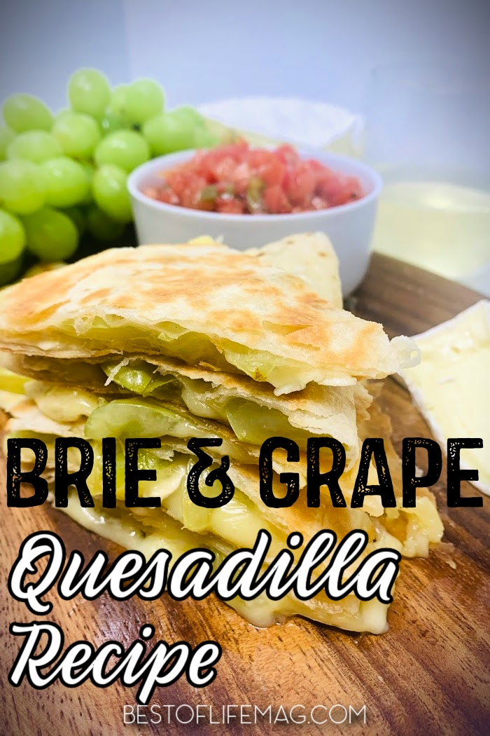 Make this delicious brie and grape quesadilla recipe for an easy breakfast or snack recipe! This quesadilla recipe is also a great happy hour appetizer to pair with wine. Quesadilla Recipes | Breakfast Recipes | How to Make Quesadillas | Quick Dinner Recipes | Happy Hour Recipes | Easy Snack Recipes | Easy Appetizer Recipes #quesadilla #Mexicanfood via @amybarseghian