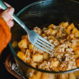 Crockpot Peach Cobbler Recipes A Person Eating A Bowl of Peach Cobbler