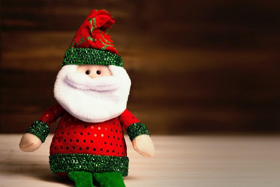 Elf on the Shelf Crockpot Ideas Knitted Santa Doll