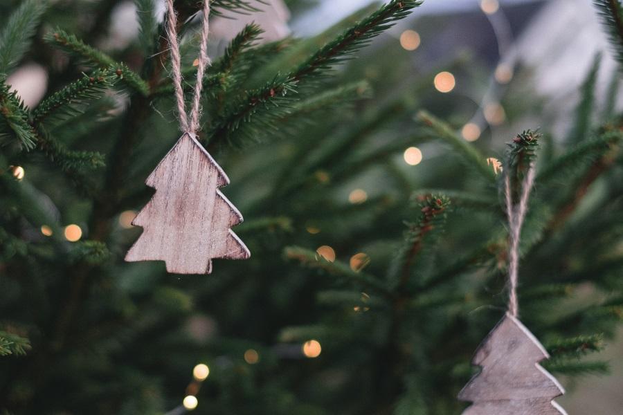Elf on the Shelf Crockpot Ideas Christmas Tree Shaped Ornament Hanging from a Christmas Tree