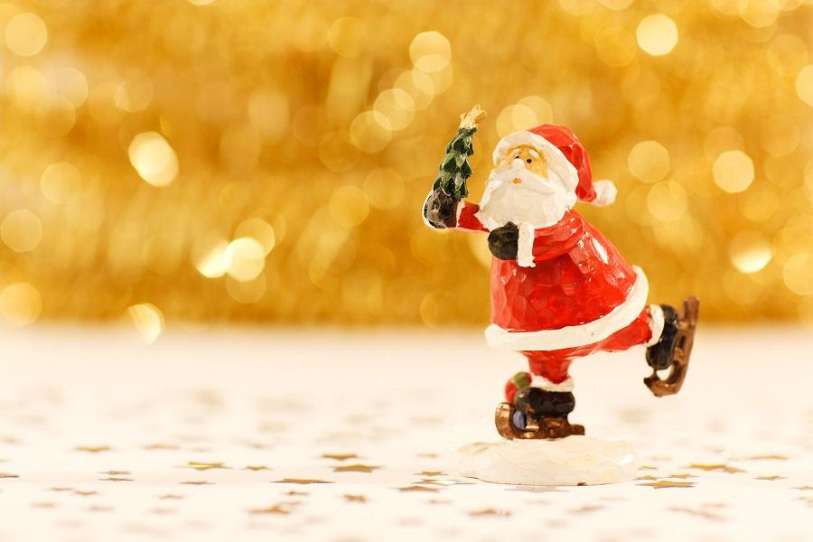 Elf on the Shelf Crockpot Ideas Santa Skating Figure