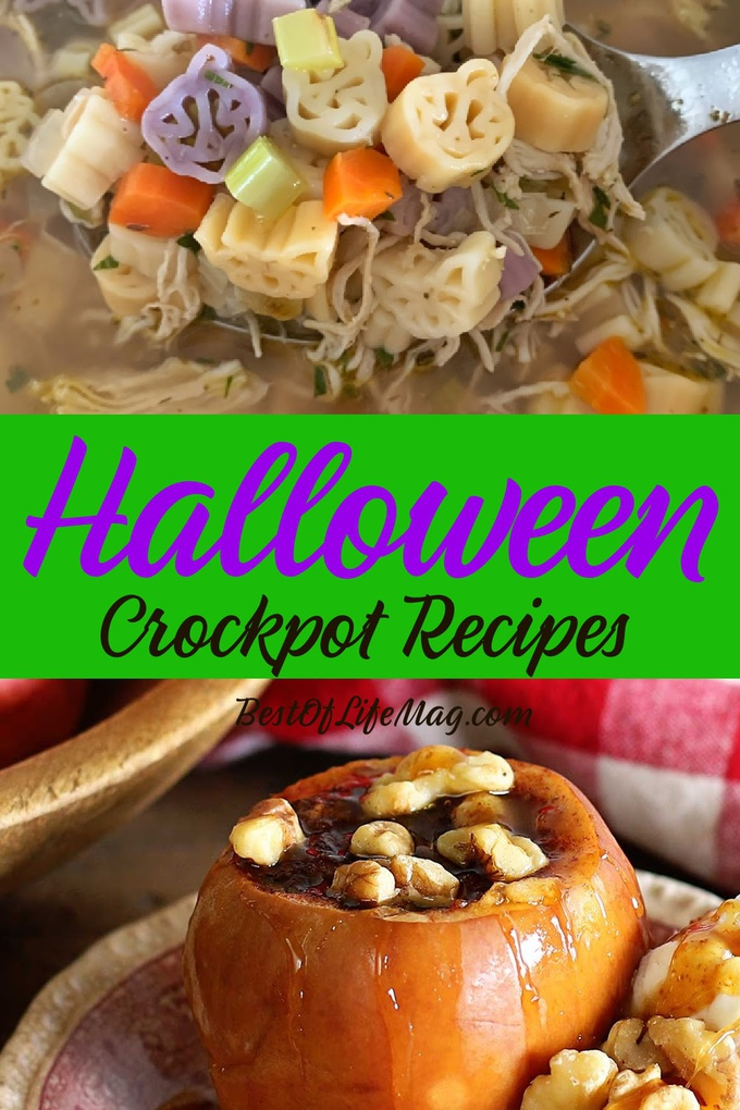Spooky Halloween crockpot recipes add a fun and easy way to make the holiday even more enjoyable for kids and adults! Halloween Dinner Crockpot Recipes | Halloween Slow Cooker Ideas | Crockpot Food Halloween | Slow Cooker Meals Halloween | Holiday Crockpot Recipes | Spooky Crockpot Recipes | Scary Slow Cooker Recipes #halloween #crockpot via @amybarseghian