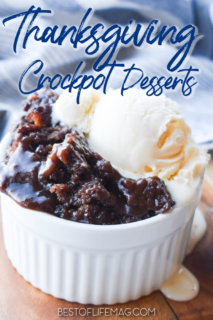 Crockpot Thanksgiving desserts are the perfect way to save time while making delicious holiday desserts that everyone will enjoy! Crockpot Thanksgiving Recipes | Slow Cooker Thanksgiving Recipes | Slow Cooker Desserts Thanksgiving | Sweet Recipes for Holidays | Crockpot Holiday Recipes | Slow Cooker Recipes Holidays #thanksgiving #desserts via @amybarseghian