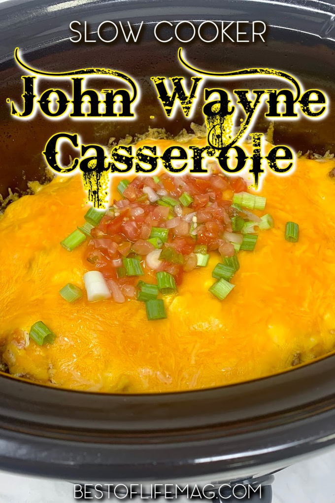 Slow cooker John Wayne casserole with tater tots is a crockpot dinner recipe for families that everyone will enjoy, no matter how picky. Tater Tot Casserole with Ground Beef | Tater Tot Crockpot Recipes | Tater Tot Casserole Recipes | Slow Cooker Casserole Recipes with Beef | Crockpot Recipes with Ground Beef | Crockpot Recipes with Tater Tots | Crockpot Dinner Recipes | Easy Dinner Recipes | Crockpot Meal Planning #slowcooker #casserole via @amybarseghian