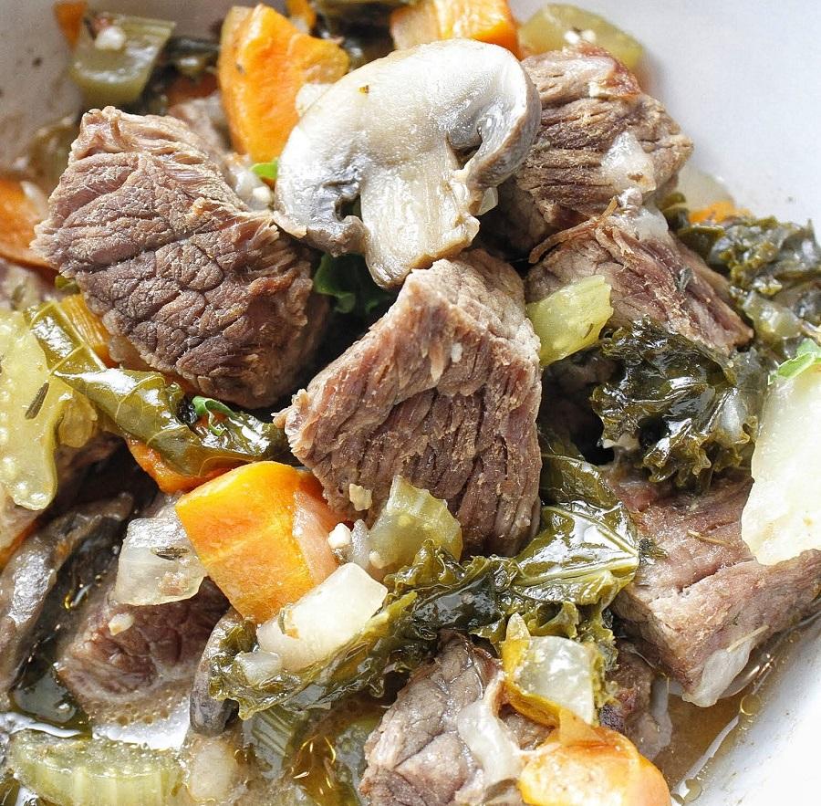 Crockpot 2B Mindset Beef Stew Close Up of Stew