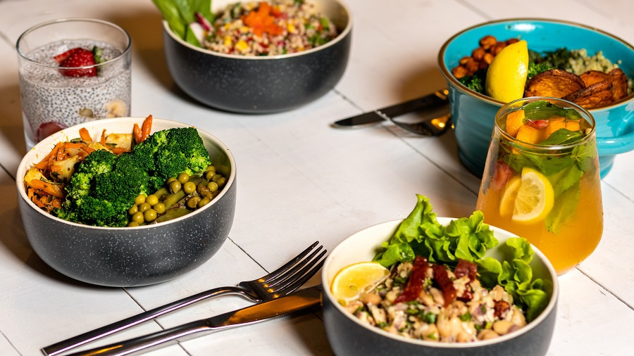 2B Mindset Recipes A Table with Three Bowls of Healthy Food
