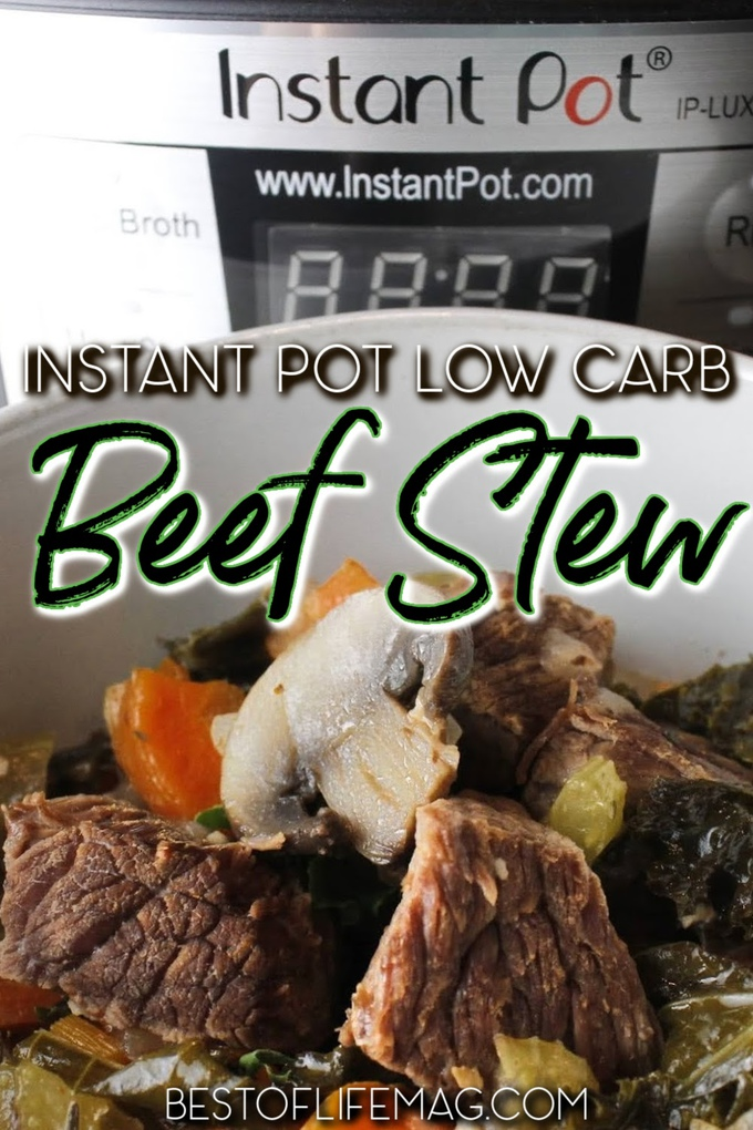 Instant Pot low carb beef stew is an easy recipe to make and enjoy while on a low carb diet or as a quick healthy beef recipe. Low Carb Instant Pot Recipes | Low Carb Beef Recipes | Keto Beef Recipes | Low Carb Beef Stew Keto | Keto Recipes with Beef | Homemade Beef Stew Recipe | Weight Loss Recipes Beef #lowcarb #instantpot via @amybarseghian