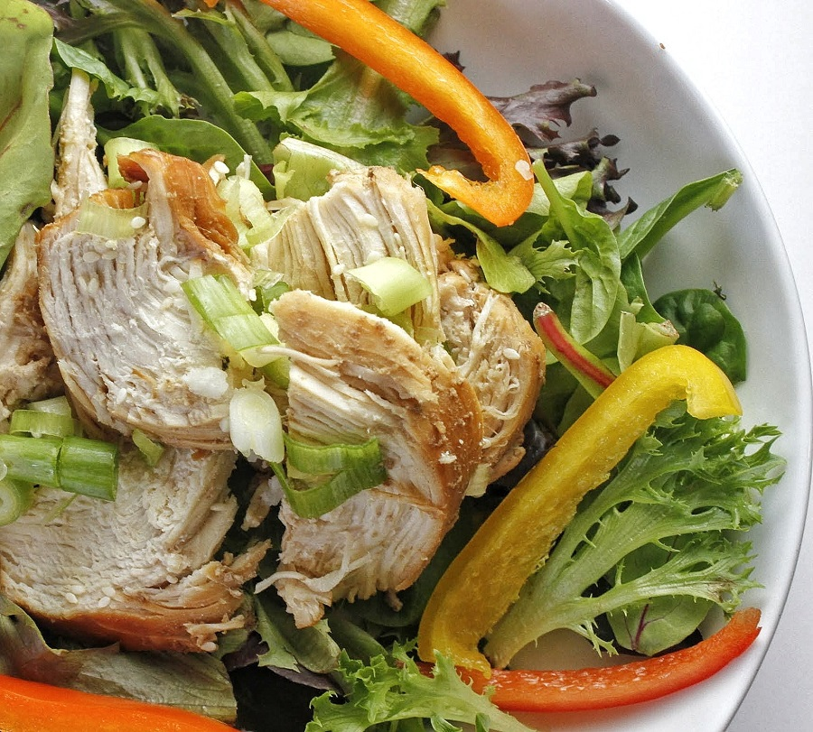 Low Carb Teriyaki Chicken Salad Recipe Close Up of Salad