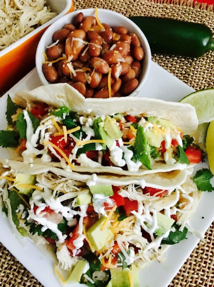 Keto Diet Tips for Beginners Close Up of Shredded Chicken Tacos
