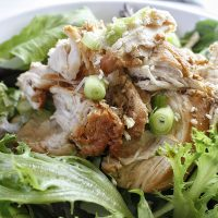 Low Carb Teriyaki Chicken Salad Recipe Finished Dish