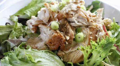 Low Carb Teriyaki Chicken Salad Recipe Finished Dish