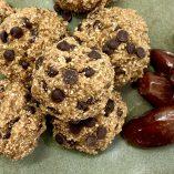 Vegan Edible Cookie Dough Bites Recipe Close Up of Bites on a Plate