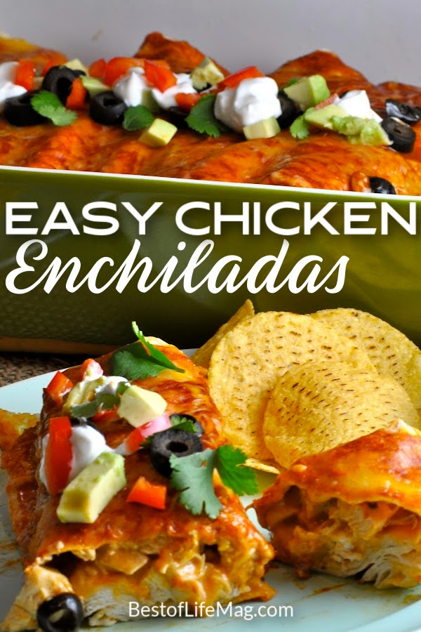 This easy chicken enchiladas recipe tastes like what you find at your favorite Mexican restaurant. Pair with a red or green sauce of your liking and you have a top ten family recipe on your hands! Enchilada Recipes   Mexican Recipes   Easy Dinner Recipes   Chicken Recipes   Easy Chicken Recipes   Recipes for Taco Tuesday   Party Recipes   Recipes for a Crowd #tacotuesday #Mexicanrecipes via @amybarseghian