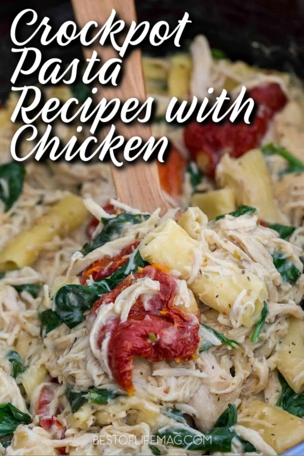 Use easy crockpot pasta recipes with chicken to explore the world of crockpot pasta and the flavors that chicken can bring to the dish. Slow Cooker Pasta Recipes | Chicken Dinner Ideas | Crockpot Chicken Recipes | Crockpot Pasta Recipes | Recipes with Chicken | Easy Dinner Recipes | Date Night Recipes | Chicken Pasta Ideas #crockpotrecipes #dinnerrecipes via @amybarseghian