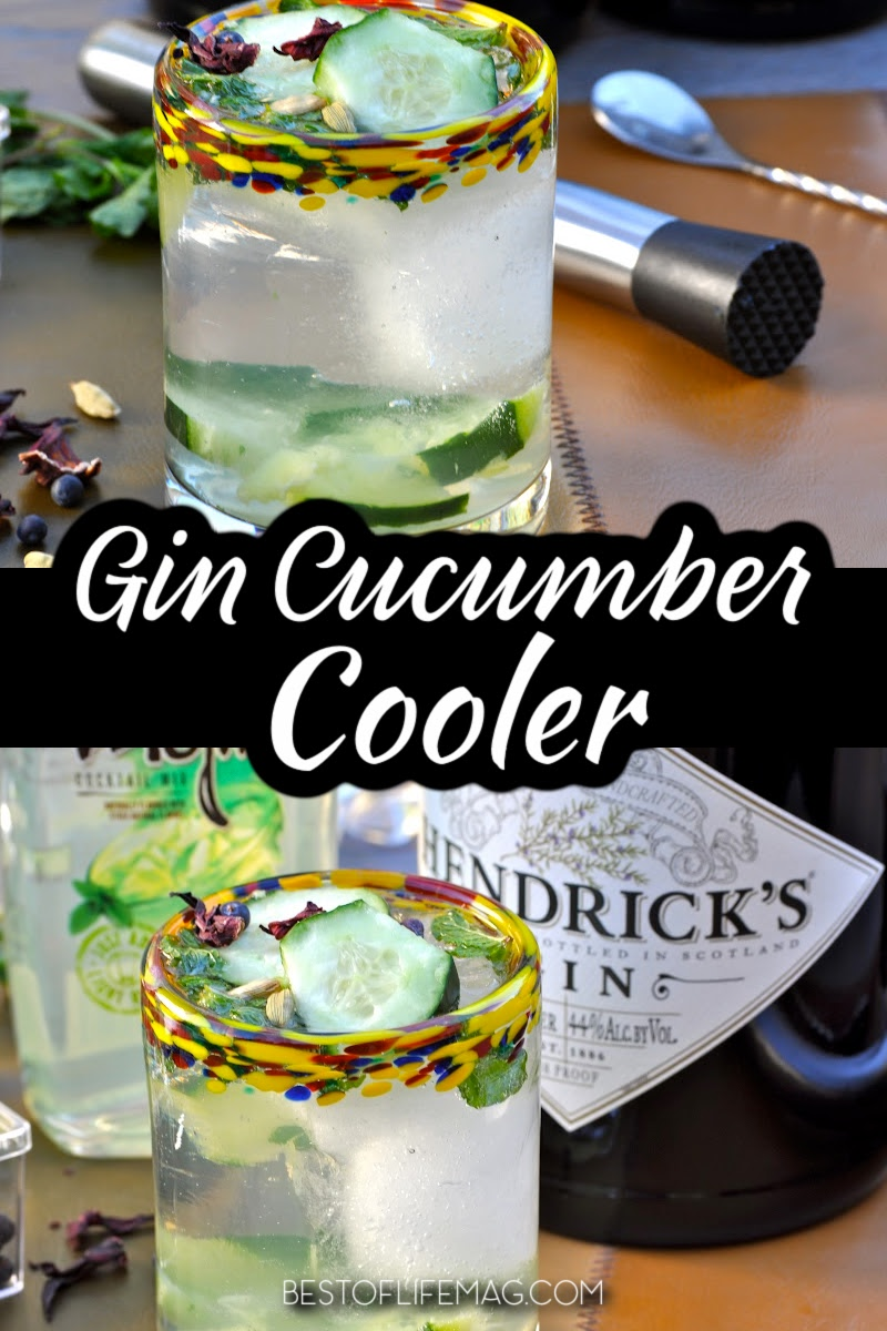 A cucumber cooler with gin is refreshing and perfect for warmer days but sometimes you don't have time to muddle as much. This quick version is an easy cocktail! Refreshing Cocktail Recipes | Gin Cocktail Recipes | Cocktails with Cucumber | Summer Party Recipes | Cocktails for a Crowd | Drinks for Hot Days | Drinks with Gin #gincocktail #drinkrecipes via @amybarseghian