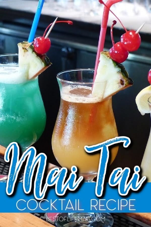 An easy Mai Tai recipe that reminds you of the beach and vacation is a must for every home and a guaranteed hit for happy hour. Mai Tai Recipe Hawaiian | Mai Tai Pitcher Recipe | Mai Tai Cocktail Recipes | Hawaiian Cocktail Recipe | Rum Drinks Recipes | Party Drinks | Drink Recipes with Rum | Easy Cocktails #maitairecipe #partycocktails via @amybarseghian
