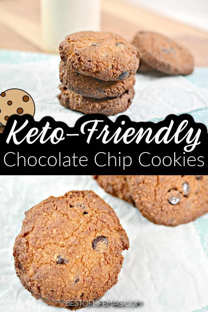 This keto chocolate chip cookies recipe will satisfy that sweet tooth while helping you stay on track with your keto diet or low carb lifestyle. Keto Dessert Recipes | Low Carb Dessert Recipes | Keto Cookies | Low Carb Chocolate Chip Cookie Recipe | Low Carb Cookie Recipes | Healthy Dessert Recipes #ketosnacks #dessertrecipes via @amybarseghian