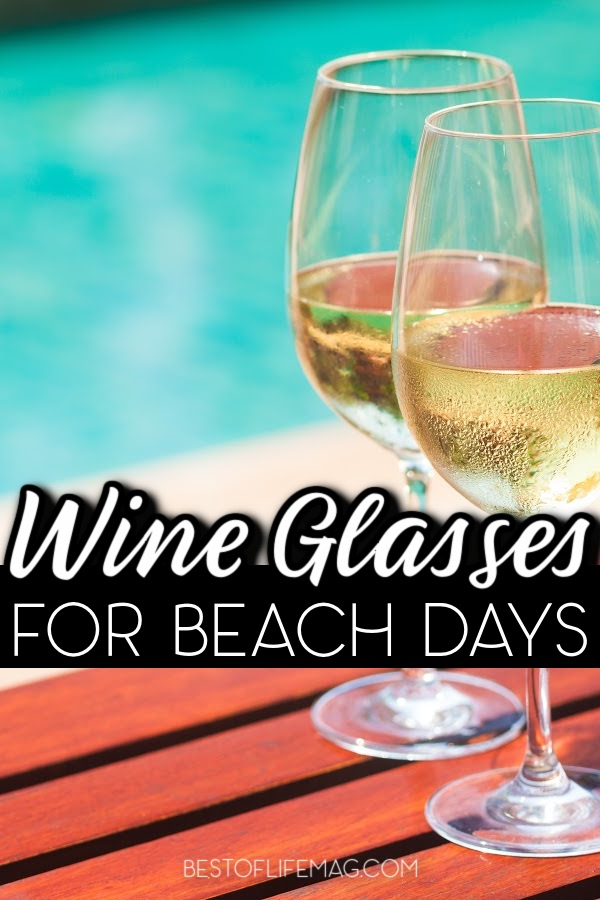 Heading to the beach doesn't mean leaving your favorite wine at home. With these awesome wine glasses for the beach you can travel with your favorite vino! via @amybarseghian