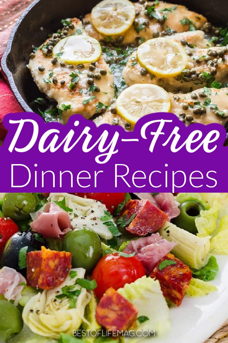 With over 50+ amazing dairy free dinner recipes to choose from there is something for everyone in this list to make cooking dairy free meals easy! Dairy Free Recipes   Healthy Dinner Recipes   Lactose Free Dinner Recipes   Recipes for Dietary Restrictions #dairyfreerecipes #healthyeating via @amybarseghian