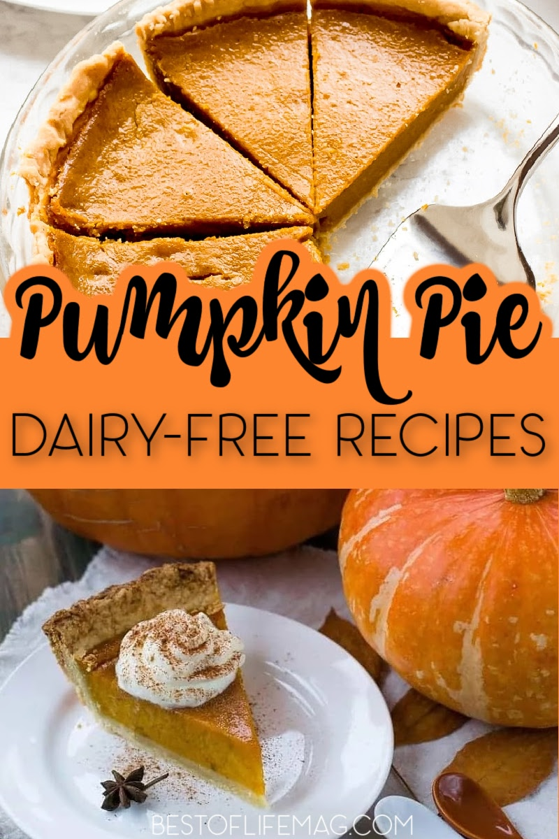 Dairy free pumpkin pie recipes are easy to make and they taste just as good, if not better, than the traditional pumpkin pie we already love. Dairy Free Pie Recipes | Dairy Free Recipes | Pumpkin Recipes | Fall Recipes | Holiday Recipes Dairy Free | Thanksgiving Recipes | Christmas Recipes | Thanksgiving Dinner Recipes | Desserts for Thanksgiving #pumpkinrecipes #dairyfree via @amybarseghian