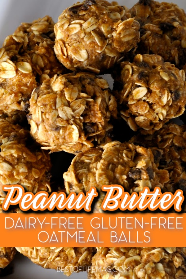This no bake peanut butter oatmeal balls recipe is gluten free and dairy free making it the perfect healthy snack for an active lifestyle. Dairy Free Snack Recipes | Gluten Free Snack Recipes | Dairy Free Oatmeal Balls Recipes | Gluten Free Oatmeal Balls Recipes | Healthy Snack Recipes #healthyrecipes #dairyfreerecipes via @amybarseghian