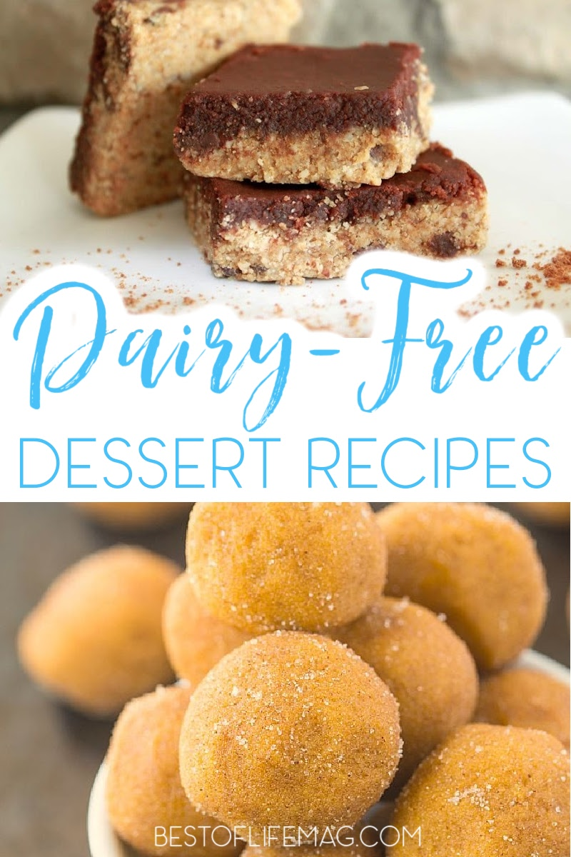 Eating dairy free doesn't mean you have to sacrifice your favorite treats. These dairy free desserts are perfect for your allergy restrictions! Dairy Free Recipes | No Dairy Diet Recipes | No Dairy Desserts | Dairy Free Desserts | Allergy Diet Foods | Food Allergen Recipes | Lactose Free Desserts | Healthy Dessert Recipes | Dessert Recipes without Dairy | Dairy Alternative Desserts #dairyfree #healthydesserts via @amybarseghian