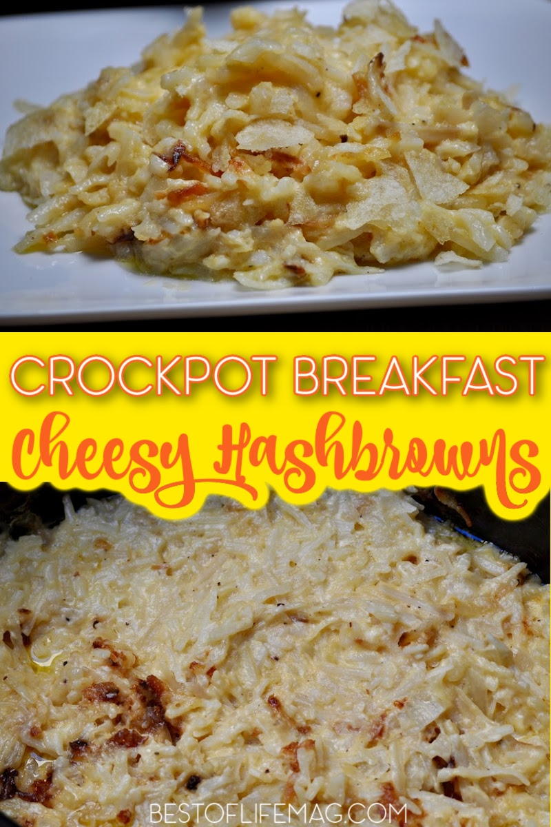 This recipe for Crockpot cheesy hashbrowns is the perfect cheesy potatoes side dish. Plus, they're so easy to make you'll love making them too! Breakfast Recipes | Healthy Recipes | Side Dish Recipes | Crockpot Breakfast Recipes | Crockpot Potato Recipes | Healthy Breakfast Recipes | Homemade Hashbrowns | Breakfast Potatoes #breakfastrecipes #crockpot via @amybarseghian