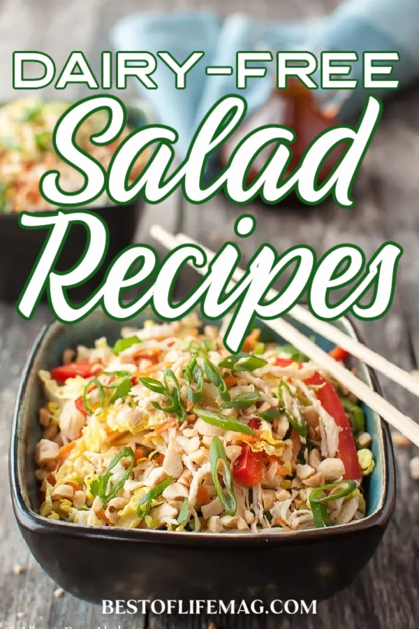 The best daily free salad recipes are healthy, easy to make and dairy free all in one serving. Add these delicious salad recipes to your meal planning rotation! Best Dairy Free Salad | Easy Dairy Free Salad Recipes | Best Salad Recipes | Easy Salad Recipes | Healthy Recipes | Dairy Free Recipes | Easy Dairy Free Recipes | Lunch Recipes without Dairy | Healthy Lunch Recipes | Meal Prep Ideas #dairyfree #lunchrecipes via @amybarseghian