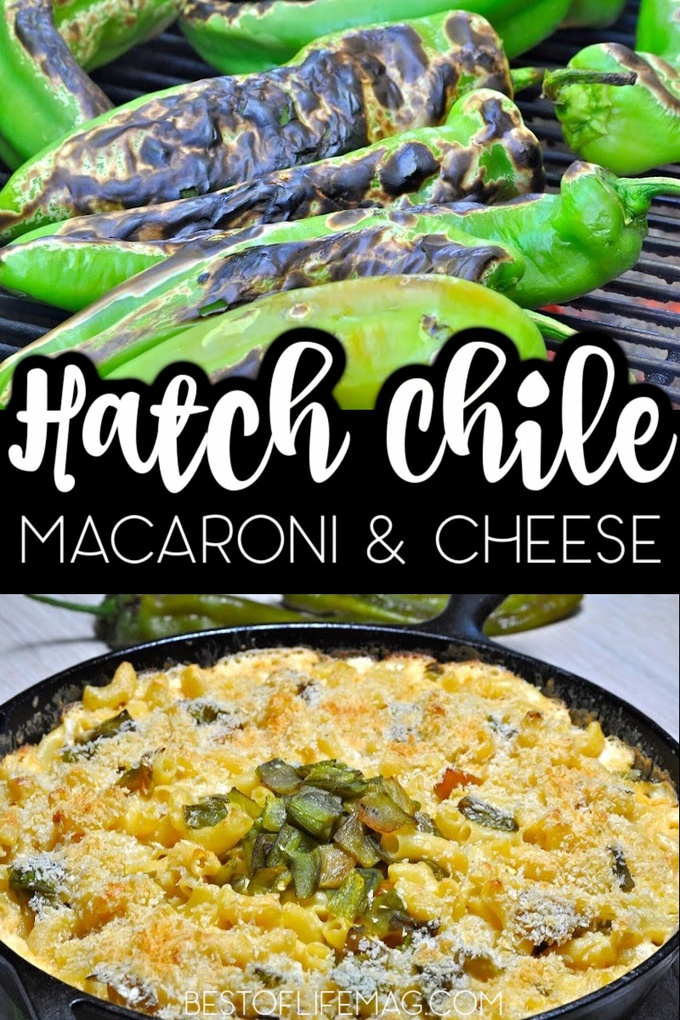 This Hatch chile mac and cheese recipe adds a subtle kick without overpowering the creamy mac and cheese that everyone loves! Party Recipes | Recipes for a Crowd | Adult Mac and Cheese Recipe | Macaroni and Cheese for Adults | Pasta Recipes with Cheese | Dinner Recipes for Two | Family Dinner Recipes | Side Dish Recipes #macandcheese #dinnerrecipe via @amybarseghian