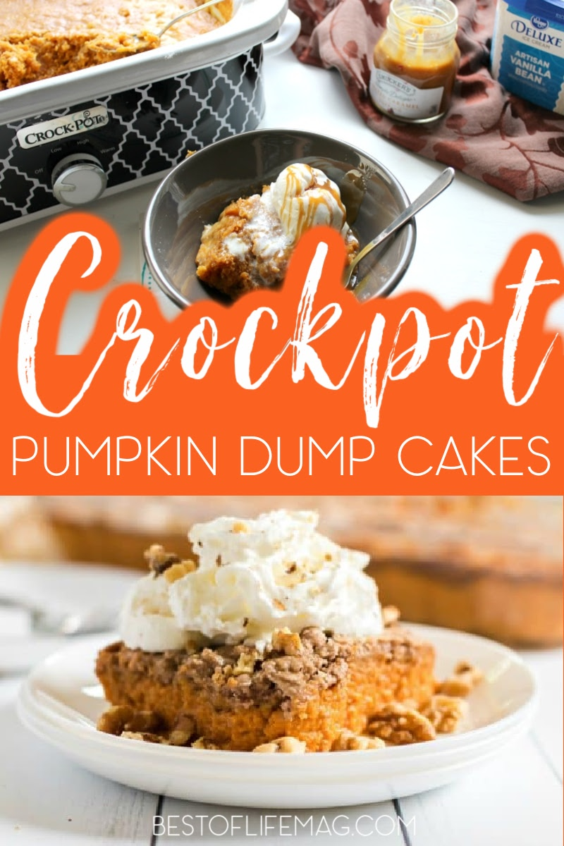 Crockpot pumpkin dump cake recipes are perfect for those chilly days, as well as fall and winter holidays. Dump Cakes for Halloween   Fall Dump Cakes   Crockpot Cake Recipes   Crockpot Fall Cakes   Slow Cooker Desserts   Slow Cooker Pumpkin Recipes   Crockpot Pumpkin Recipes   Pumpkin Desserts   Crockpot Pumpkin Dessert Recipes #pumpkincake #crockpotrecipes via @amybarseghian