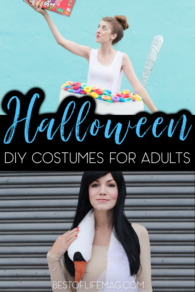 Saving up for the holidays means you need to skimp in some areas, but making DIY Halloween costumes helps save money without skimping on fun! DIY Costumes for Women | DIY Costumes for Men | Halloween Ideas for Adults | Costumes for Halloween | DIY Ideas for Costumes | DIY Costumes for Adults | Homemade Costumes | Adult Costume Ideas | Costumes for Adults #halloween #DIYcostumes via @amybarseghian