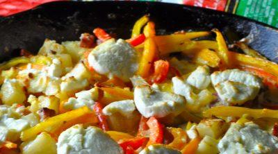 Breakfast Frittata Recipe with Potatoes Angled Close Up of Frittata